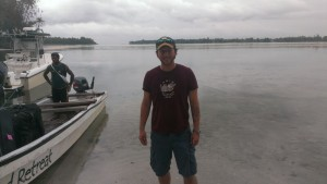 Arriving in Kavieng after traveling by car, plane, and boat. (Photo by Richard Hamilton)