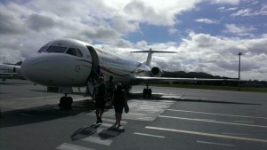 Boarding plane to Kavieng, Papua New Guinea. (Photo by Gregory Barord)