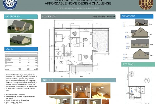Central Campus Students Selected as Finalists for Polk County Housing Trust Affordable Home Design Challenge