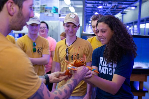 Lucky Lobster Finds a Home at Central Campus Marine Biology